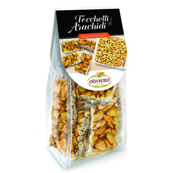 Bustine di tocchetti di croccante di arachidi