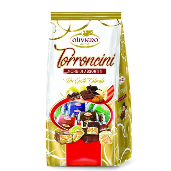 torroncini morbidi assortiti ricoperti di cioccolato