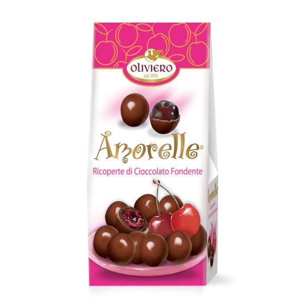 Astuccio amarene ricoperte di cioccolato fondente