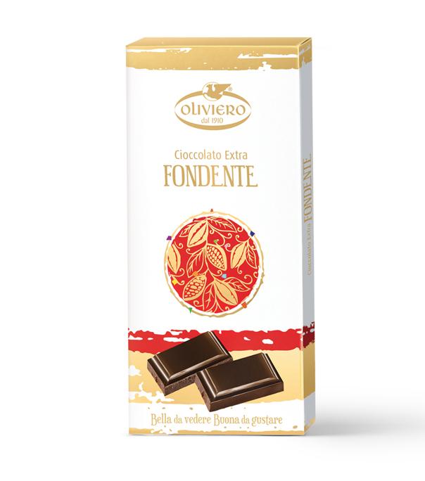 Barretta di cioccolato extra fondente