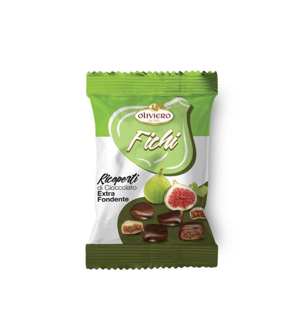 Bustina di fichi ricoperti di cioccolato extra fondente