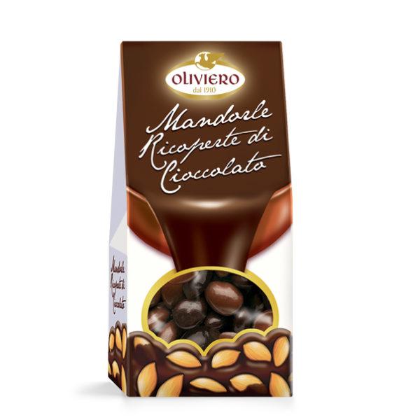 Astuccio mandorle ricoperte di cioccolato (fondente e al latte)
