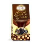 Astuccio nocciole ricoperte di cioccolato (fondente, latte e bianco)