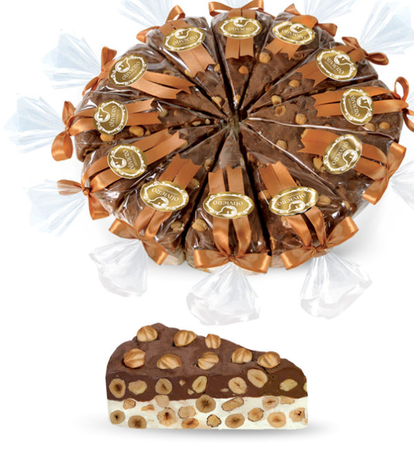 Spicchi di torrone tenero bicolore cioccolato e vaniglia