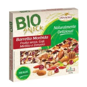 Barretta morbida con semi di girasole, frumento, bacche di goji, mirtilli e zenzero BIO