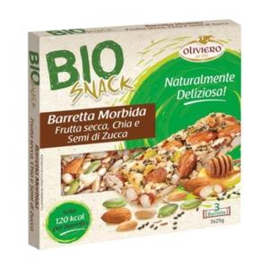 Barretta morbida con semi di zucca, semi di chia e cereali BIO