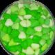 confetti cuore verdi